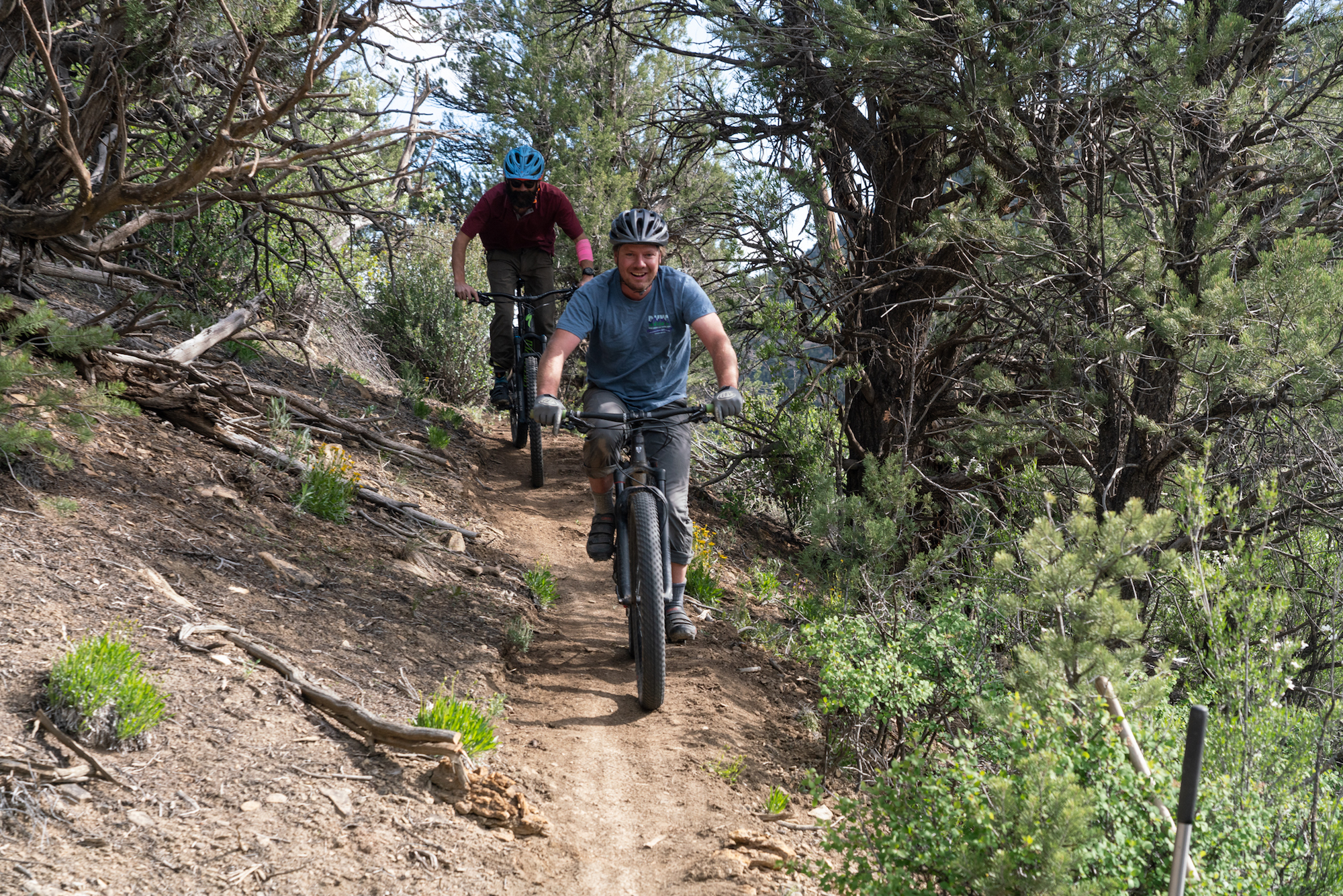 Checking out the trails on Scullbinder Ranch.