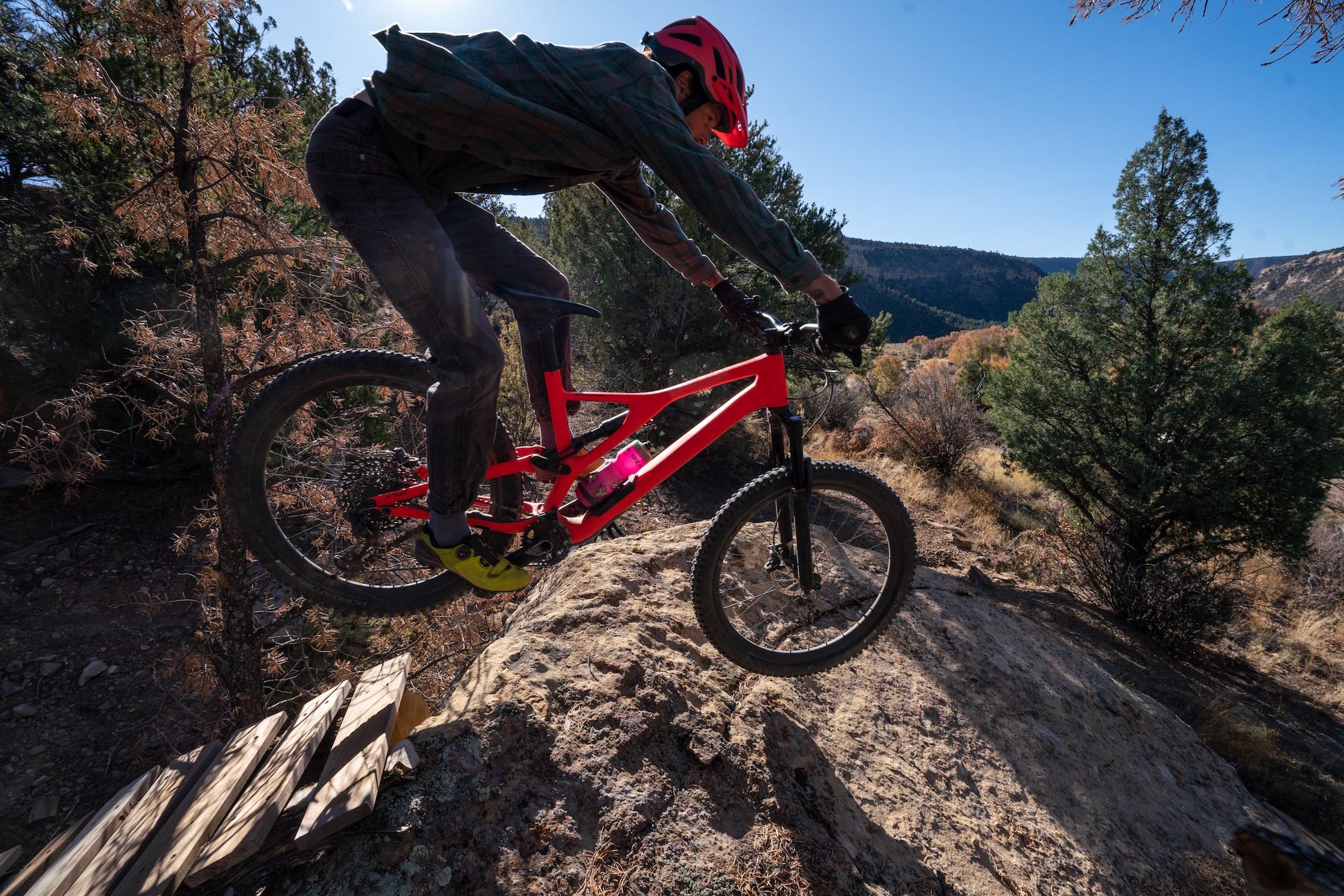 Steve on the Scullbinder Ranch mountain bike trails.