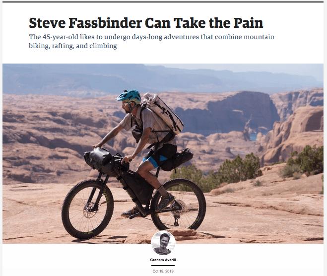 Steve in Outside Magazine