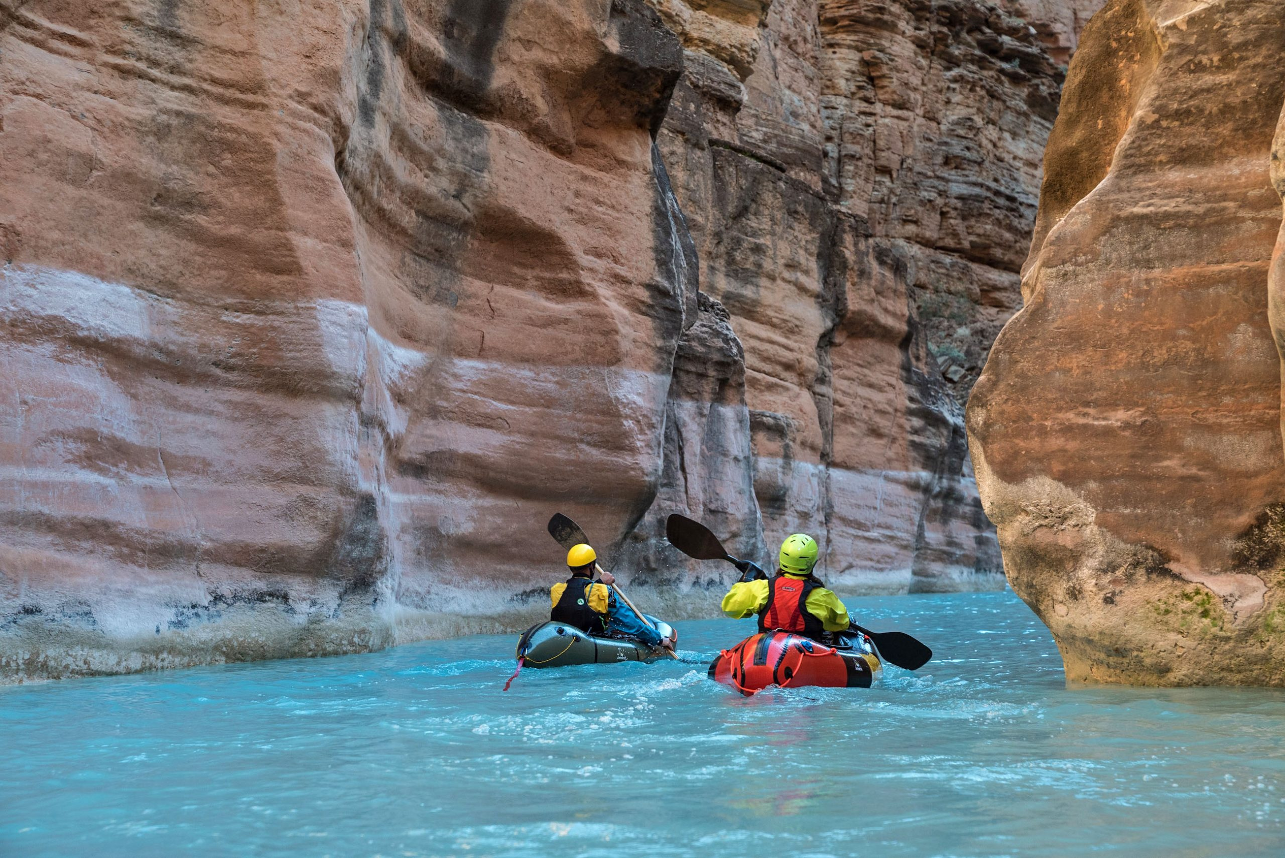 Grand Canyon self supported packrafting pretty blue water