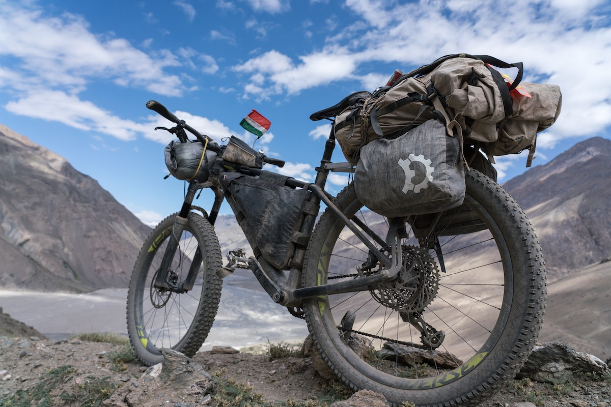 Steve's tidy bikeraft kit from his solo trip to Tajikistan.