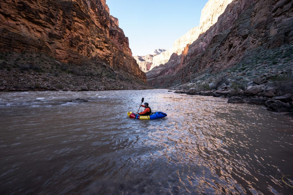 Grand Canyon self-supported packraft trip pretty boat