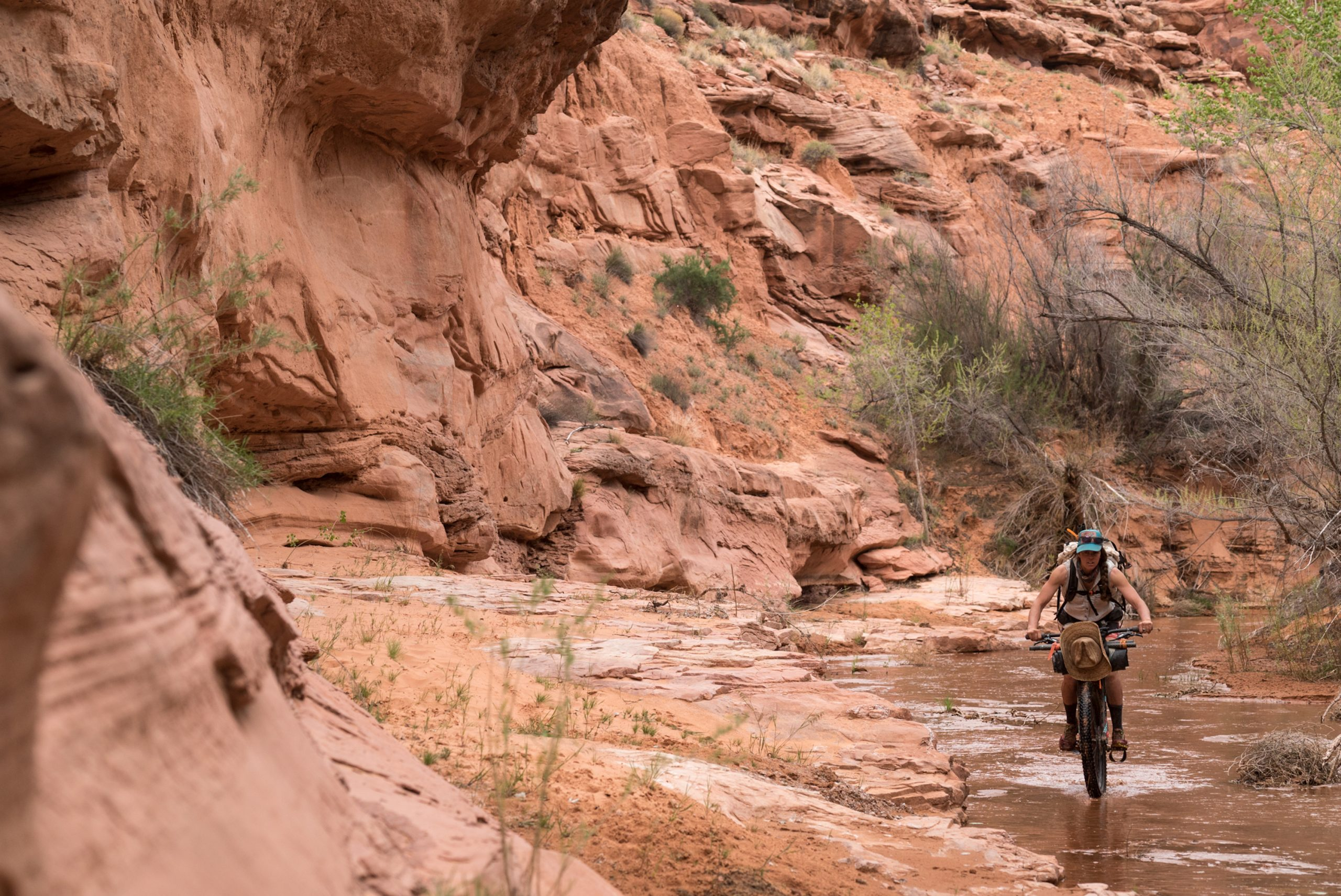 Ashley Caruth riding wet washes Southern Utah