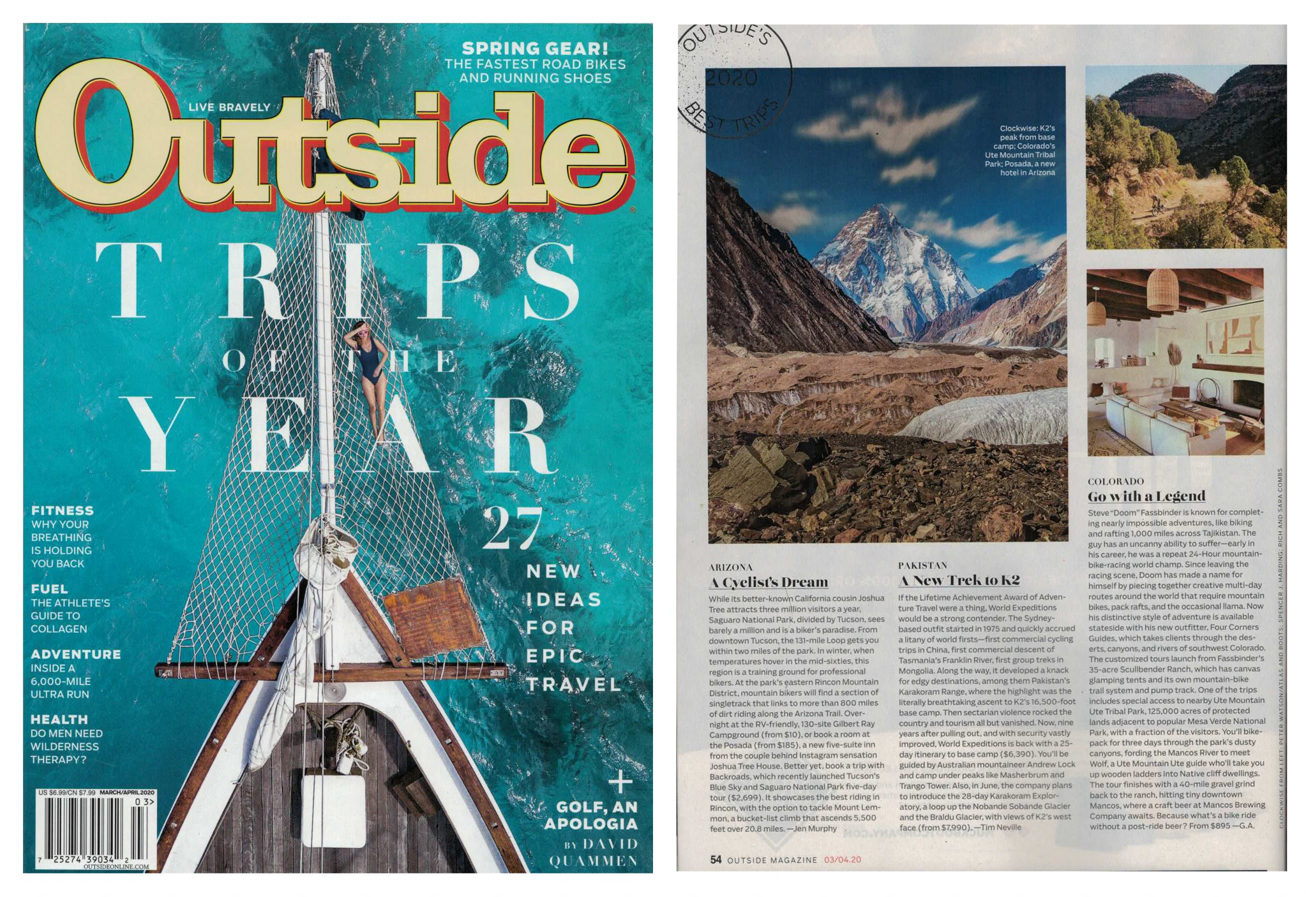 Outside Magazine Trips of the Year