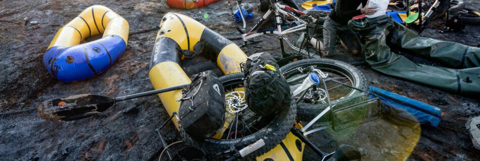 how to put bike wheels on a packraft