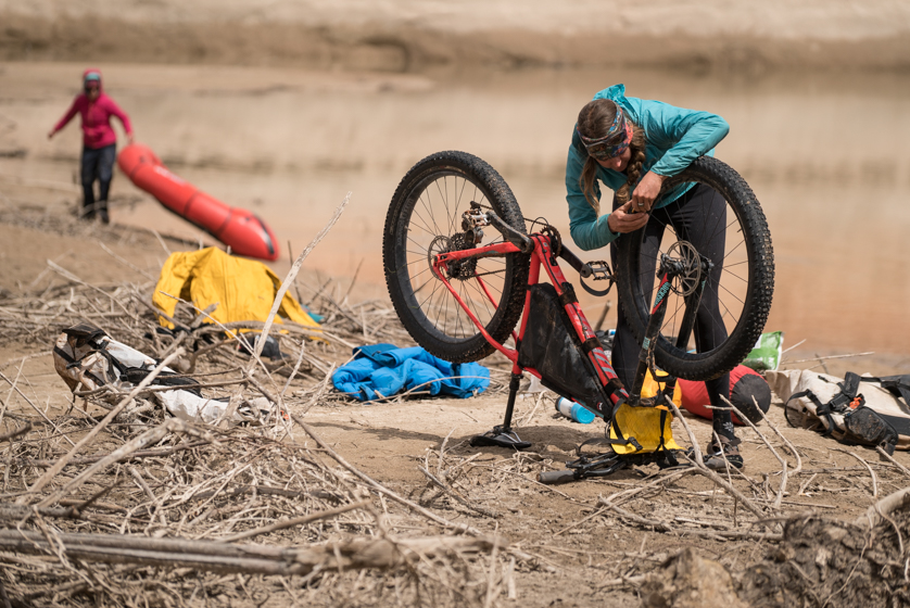 bike and packraft maintenance workshop