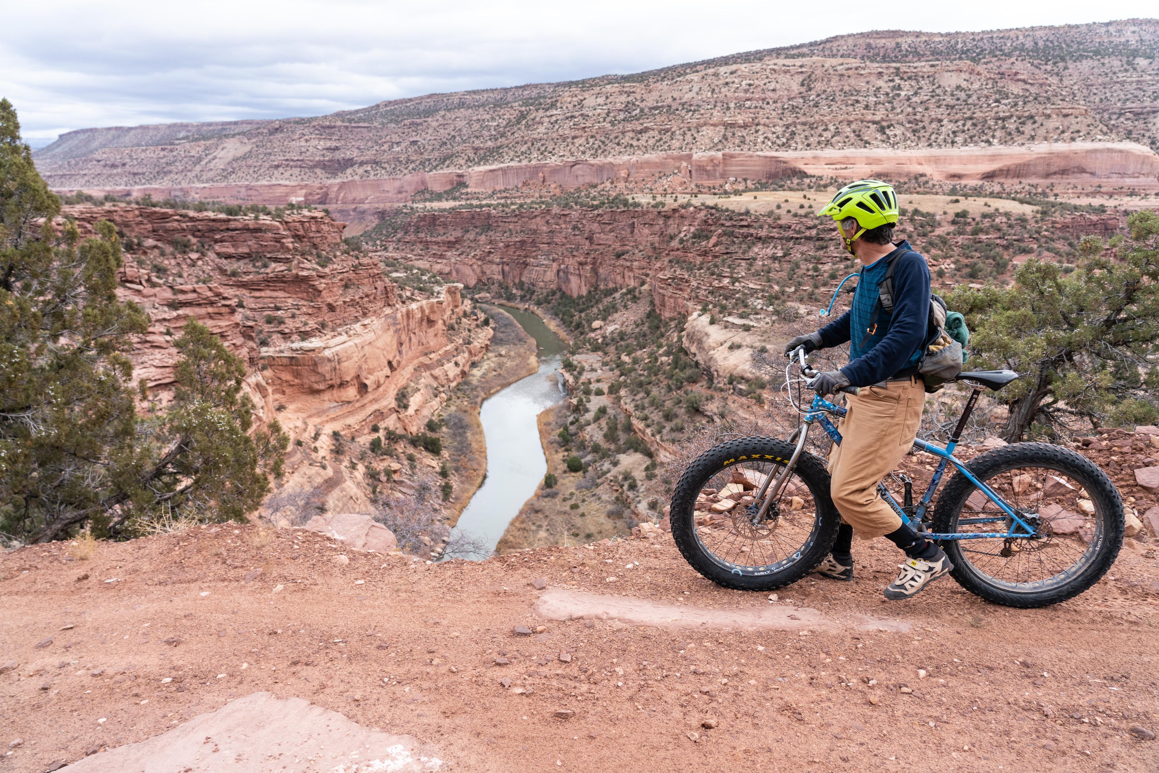 Overlooking the San Miguel River- Rim Rocker Bikeraft Tour