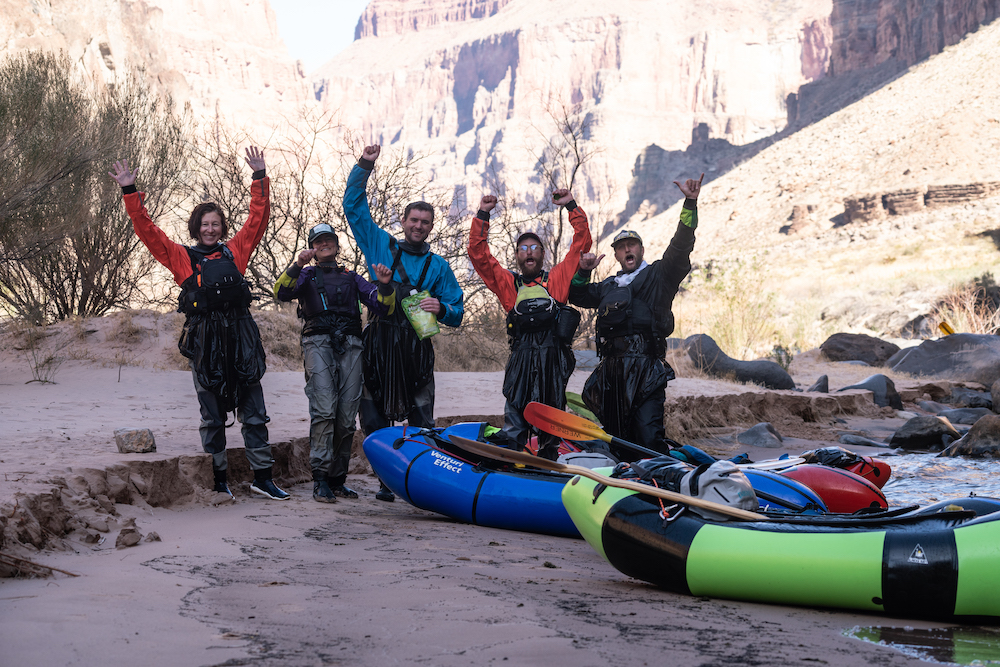 Self Support Packraft Adventure in the Grand Canyon.