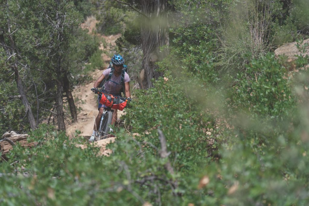 Saadia Cleeve bikerafting McPhee Reservoir