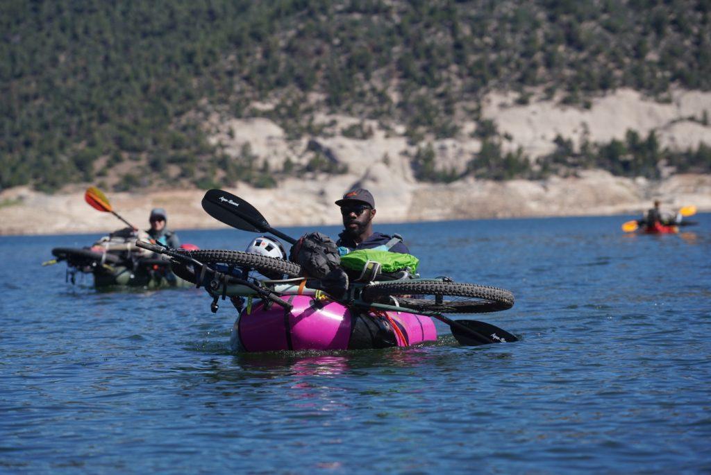 People of color bikerafting McPhee Reservoir_0131