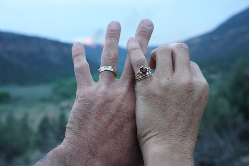 Doom asked Lizzy to marry him in May as fires raged in the Ute Mountain Ute Tribal Park in the background.