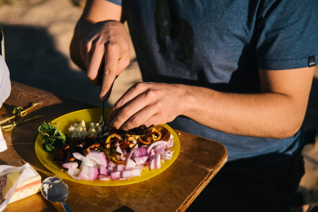 Cooking while in the backcountry -bikeraft kit
