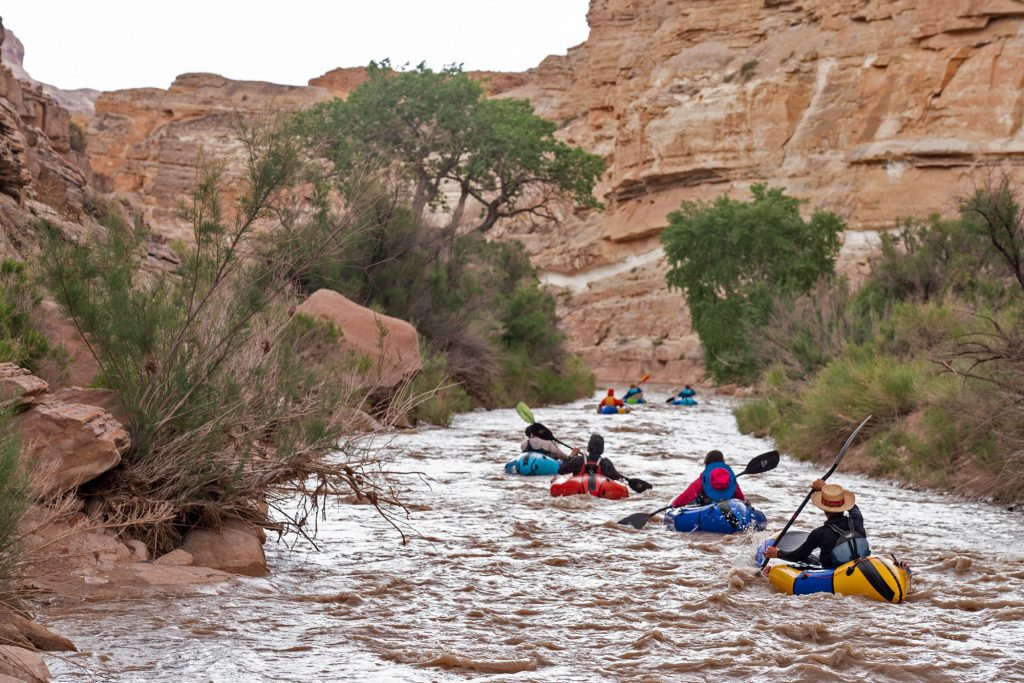 Dolores River packrafting and backpacking loop.