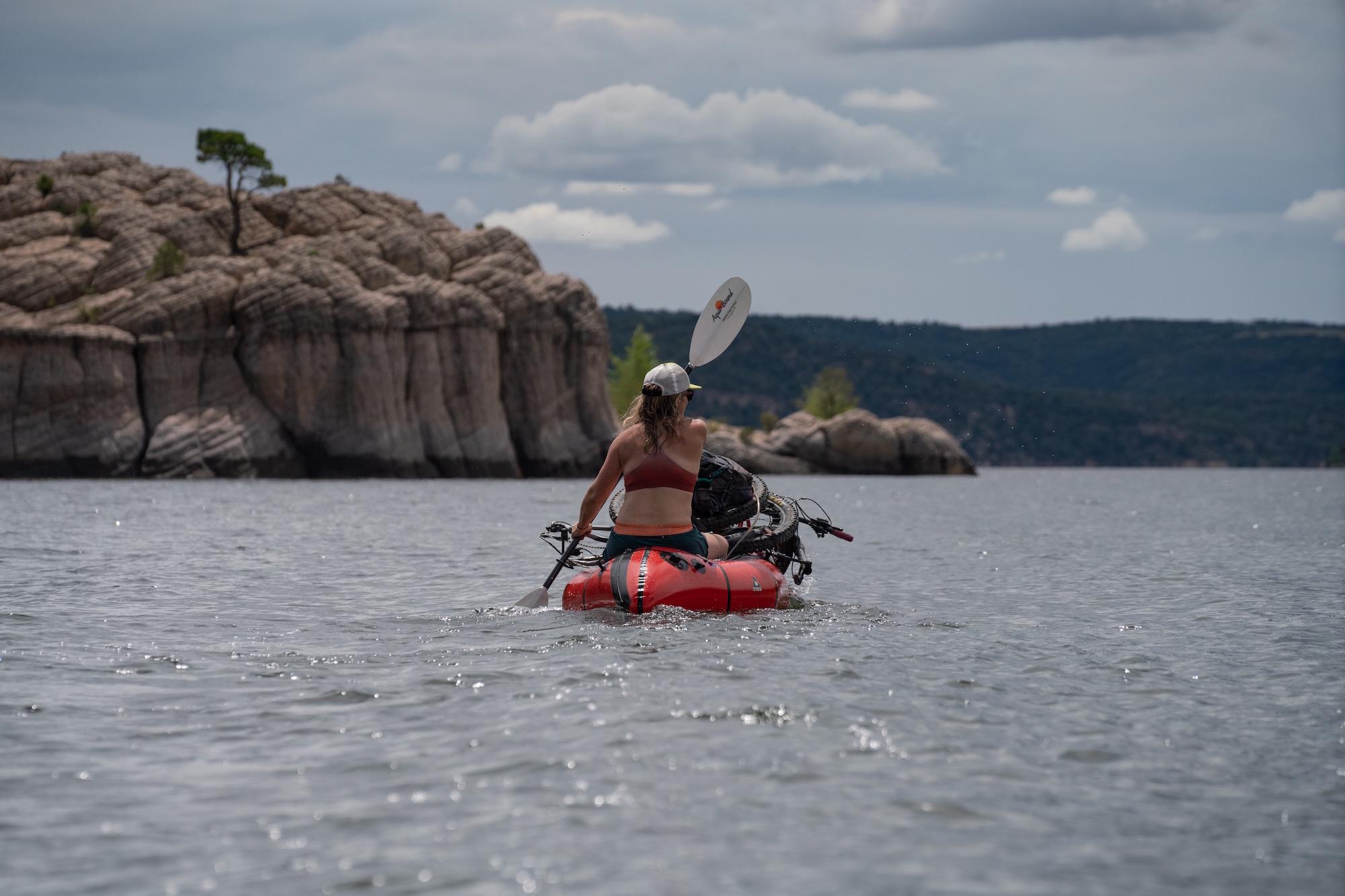 Bikerafting McPhee Reservoir, the San Juan National Forest