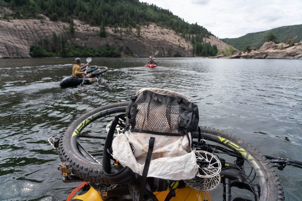 Learn to bikeraft on McPhee Reservoir - 3 days, 50 miles of single track and paddling!